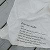 slow no wake tea towel