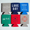 Beverage Koozies Lake Life themed