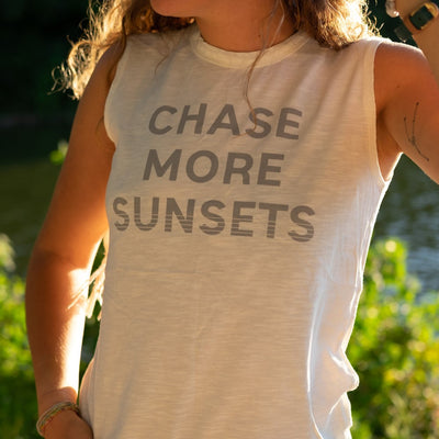 Chase More Sunsets Tank