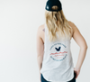 "Ladies ""Land of the Free, Home of the Wave"" Tank"