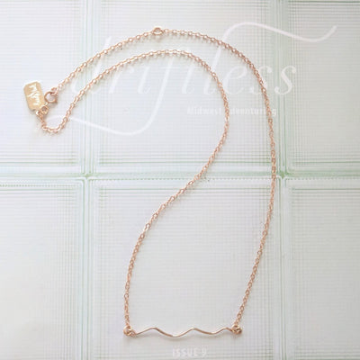 Wave Bar Necklace (Gold, Rose Gold, or Silver)
