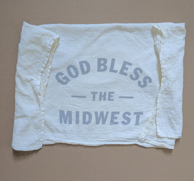 God Bless the Midwest tea towel
