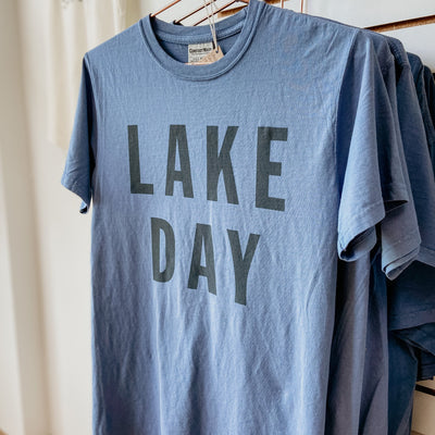LAKE DAY Garment Dyed Tee | Unisex