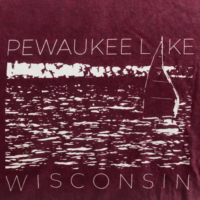 Pewaukee Lake Sail Tee