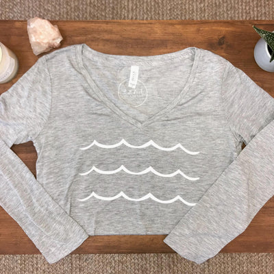 Waves Longsleeve V-Neck