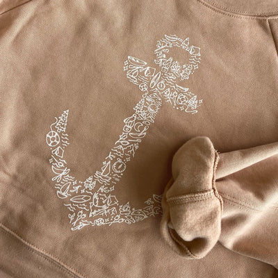 Lake Icon Anchor Crewneck | Dune