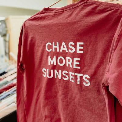 Chase More Sunsets Pocket Long Sleeve Shirt