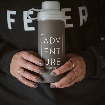 ADVENTURE Glass Water Bottle