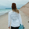 "Long Sleeve Pocket Tee - ""Home"" Letter to Lake Michigan"