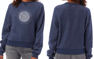 More Wave Than Particle Eco Teddy Crew - Faded Navy