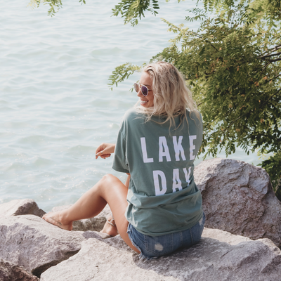 LAKE DAY Short Sleeve Pocket Tee | Unisex