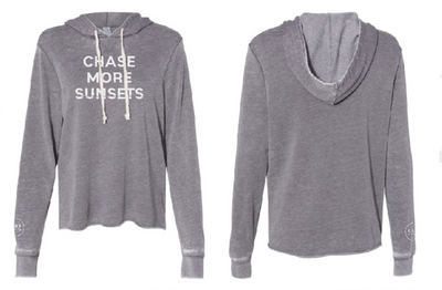 Chase More Sunsets French Terry Hoodie