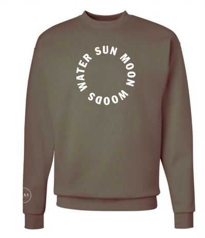 SUN MOON WOODS WATER Eco Unisex Crew