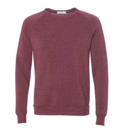 Cabin Fever Maroon Fleece Crew
