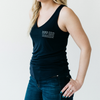 Ladies Navy V-Neck Tank