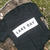 LAKE DAY Black Tee Shirt
