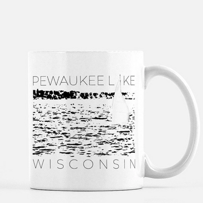 Pewaukee Lake Sail Mug