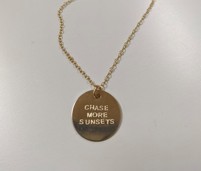 Chase More Sunsets Necklace