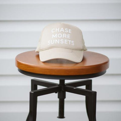 chase more sunsets trucker hat