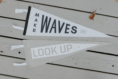 Make Waves Look Up oxford pennant