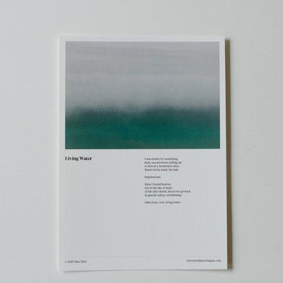 Letters to Lake Michigan Poem Print