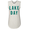 LAKE DAY Tank | White & Sea Green