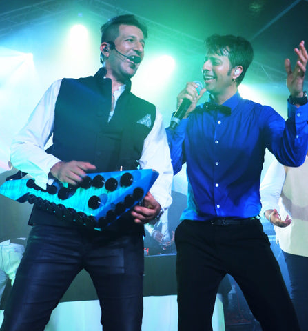 siblings Salim Merchant and Sulaiman Merchant Salim-Sulaiman Indian composer duo
