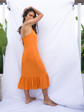Load image into Gallery viewer, BELLUCCI DRESS - TANGERINE