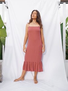BELLUCCI DRESS - TERRACOTTA