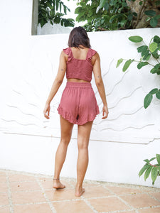 BARDOT SHORT - TERRACOTTA
