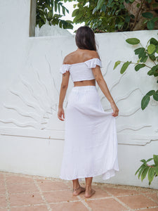 CALLIOPE SKIRT - WHITE