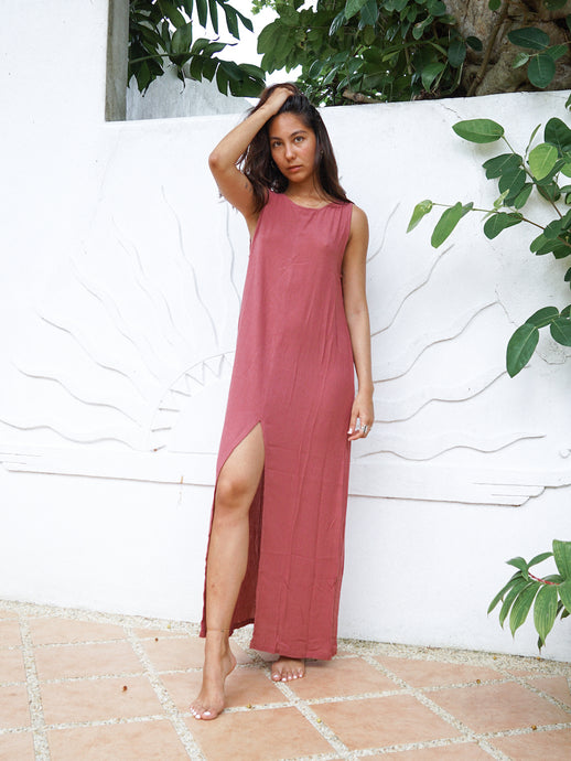 AQUILA DRESS - TERRACOTTA