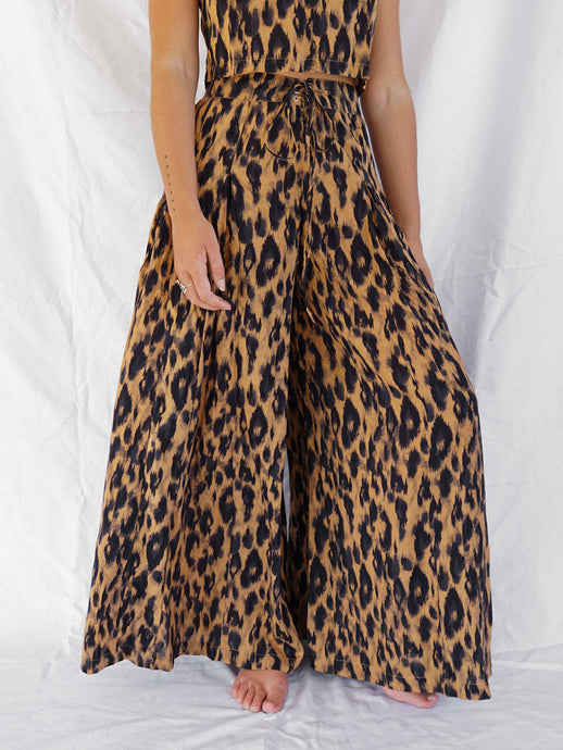 ASTRA PALAZZO PANT - LEOPARD