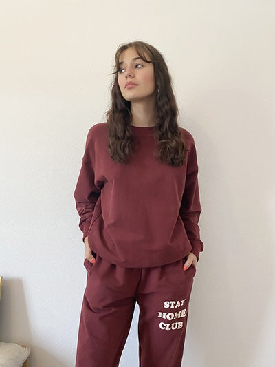 Stay Home Club Sweatshirt-ALL THINGS TOPS