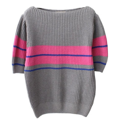 All Things Top™ Rainbow Striped Sweater
