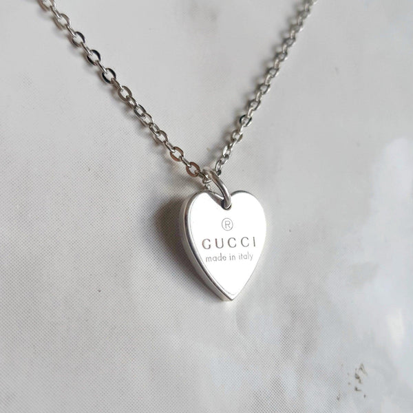 Repurposed Gucci Pendant heart