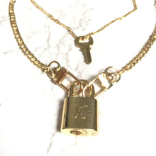 Load image into Gallery viewer, Louis Vuitton Padlock Necklace with double chains