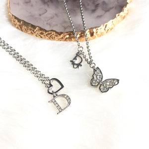 Authentic Dior Necklace Vintage Butterfly