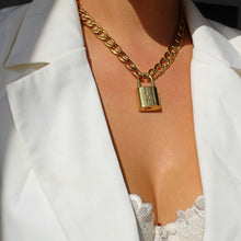 Load image into Gallery viewer, Louis Vuitton Padlock with Chunky Chain Necklace