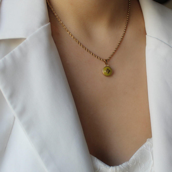 Authentic Louis Vuitton Green Pear Pendant Pastilles - Boutique SecondLife