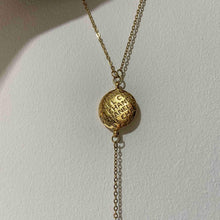 Load image into Gallery viewer, Repurposed Authentic Chanel Round Pendant- Y Necklace