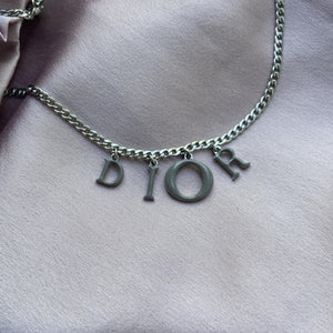 Reworked Authentic Dior Pendant Necklace