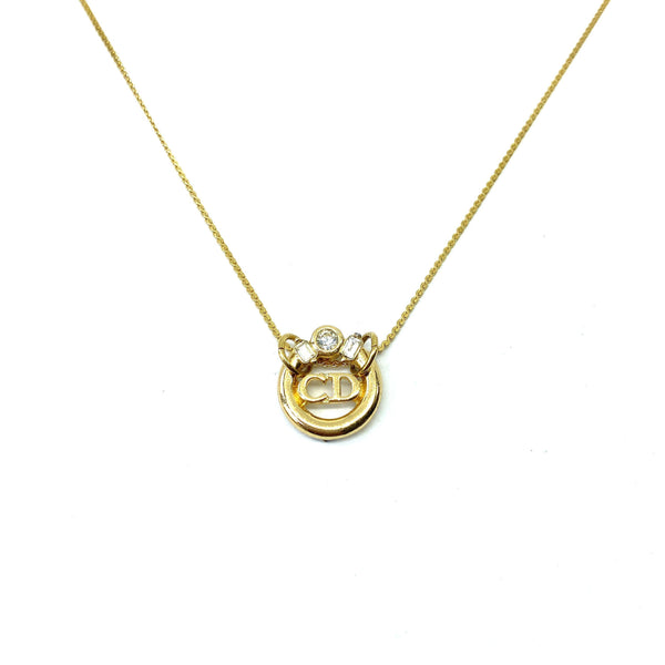 Reworked Authentic Dior Pendant - Necklace