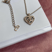 Load image into Gallery viewer, Authentic Christian Dior Heart Silver Vintage Necklace