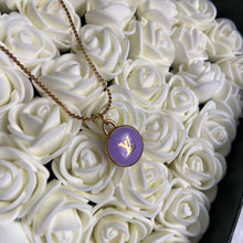 Load image into Gallery viewer, Authentic Louis Vuitton Logo Purple Pendant- Necklace