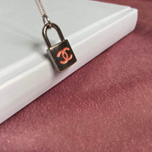 Load image into Gallery viewer, Re-purposed Authentic Pendant Lock - Necklace