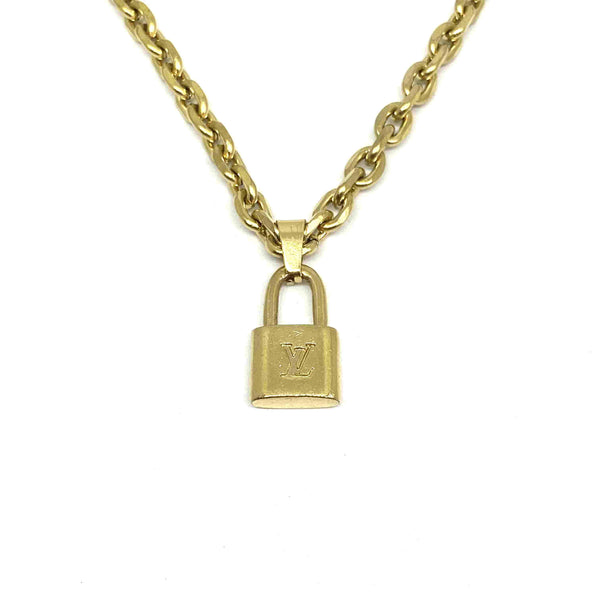 Authentic Louis Vuitton Padlock Pendant Reworked Pendant