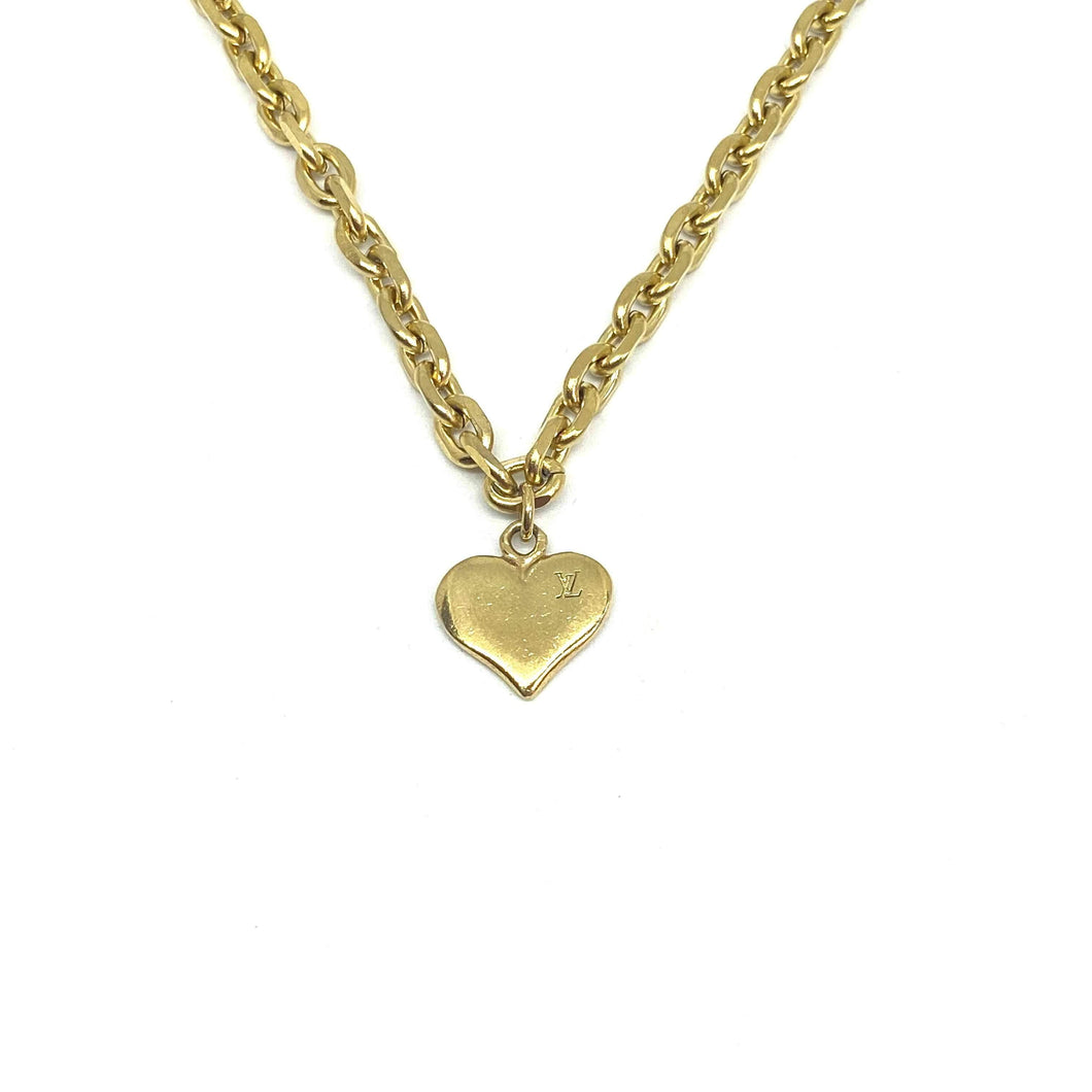 Authentic Louis Vuitton Heart Pendant Reworked Pendant