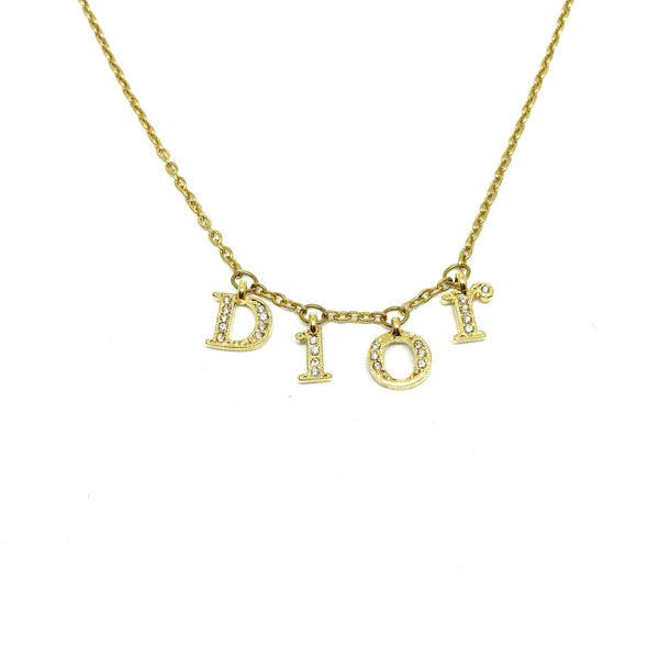 Authentic Dior Spellout Repurposed Necklace