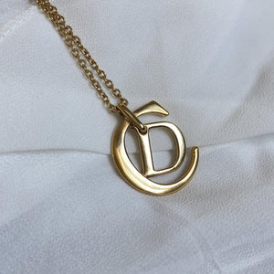 Authentic Christian Dior CD Long Necklace